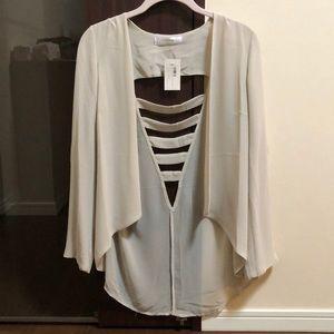 Jackets & Blazers - Mahina ivory sheer jacket